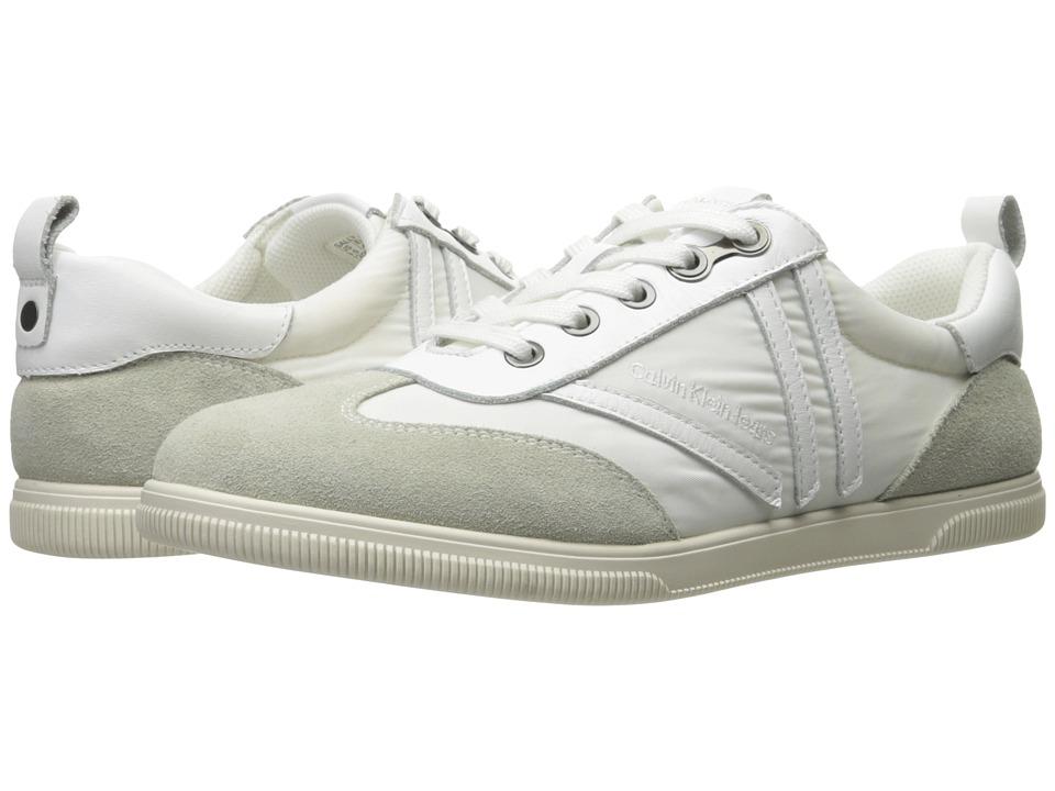 Calvin Klein - Sally (White Nylon/Suede) Women's Shoes