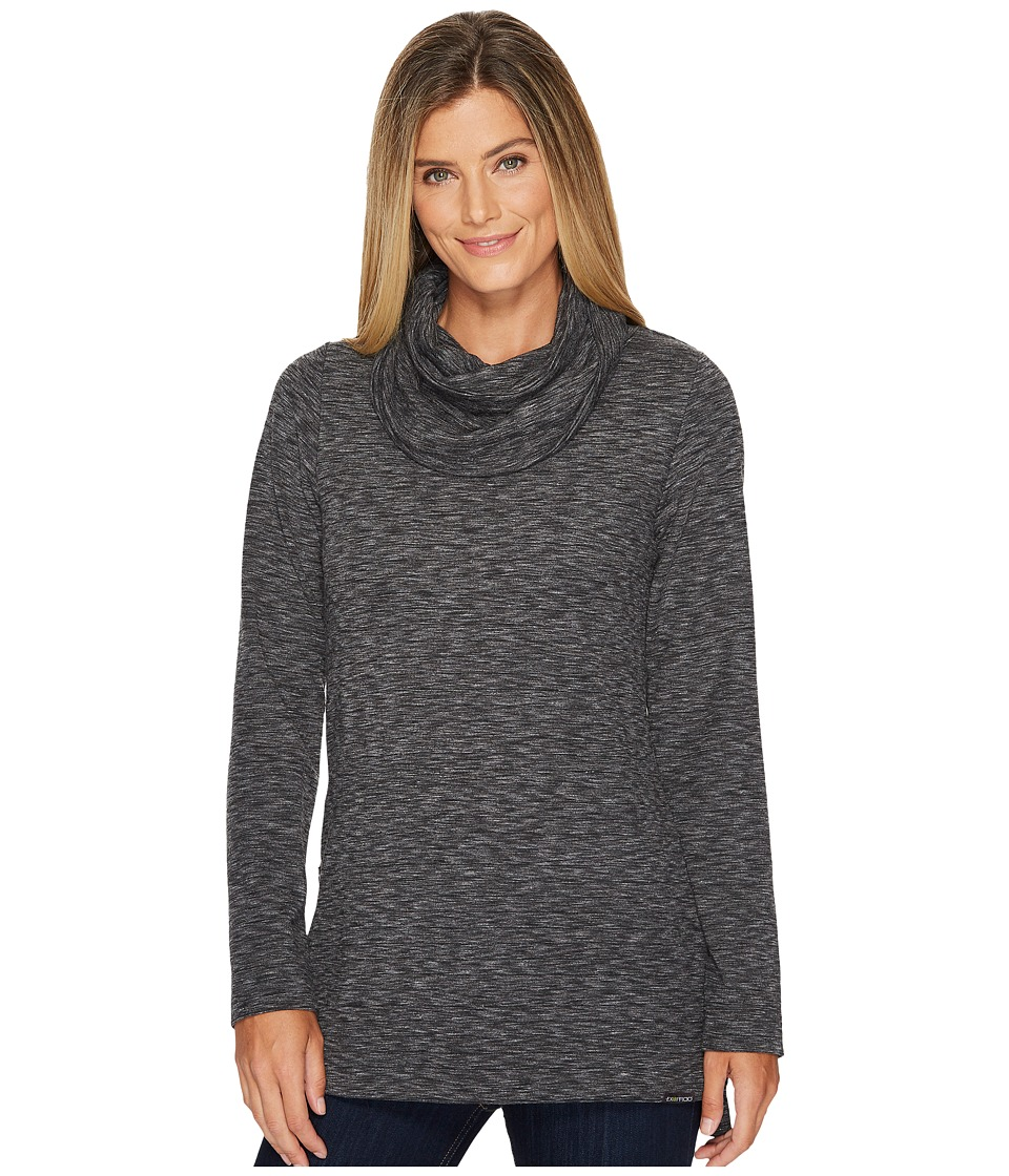 ExOfficio Cordova Cowl Tunic (Black Marl) Women