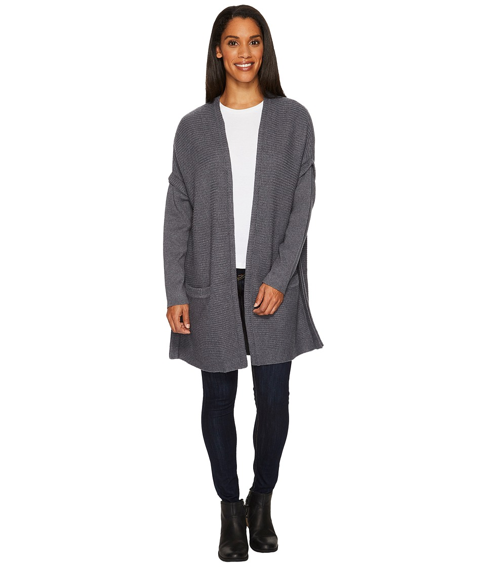 ExOfficio Gabriola Cardigan (Grey Heather) Women