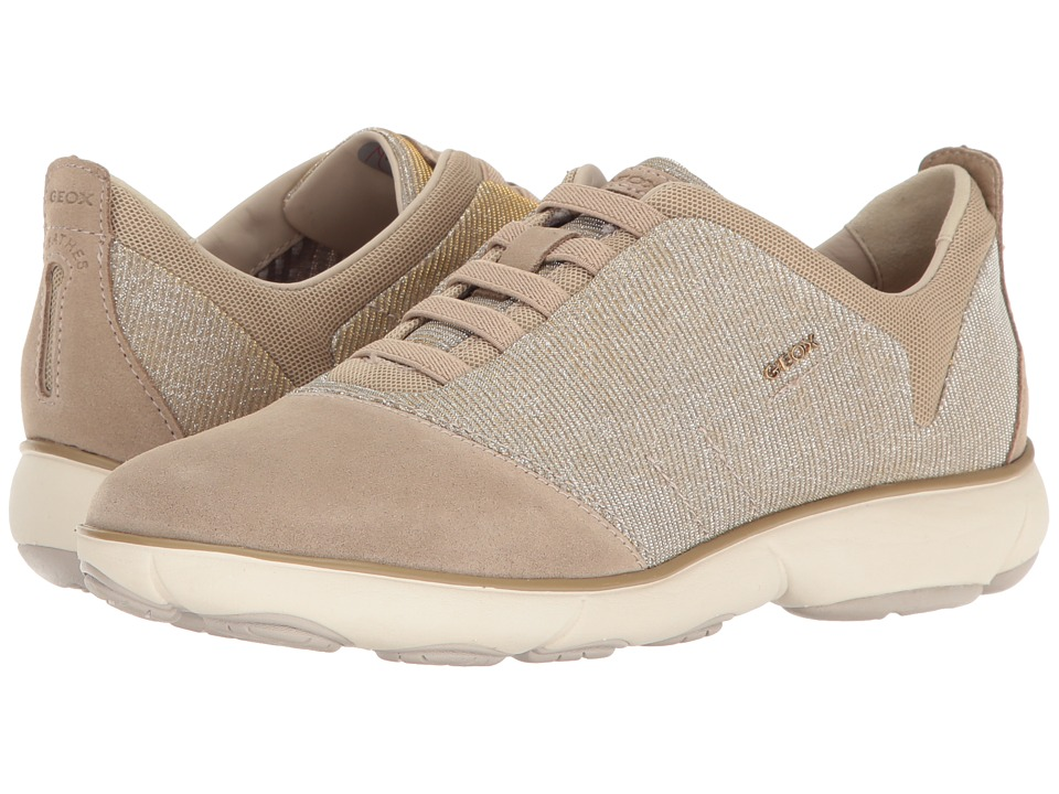 Geox - W NEBULA 11 (Lead/Light Taupe) Women's Lace up casual Shoes