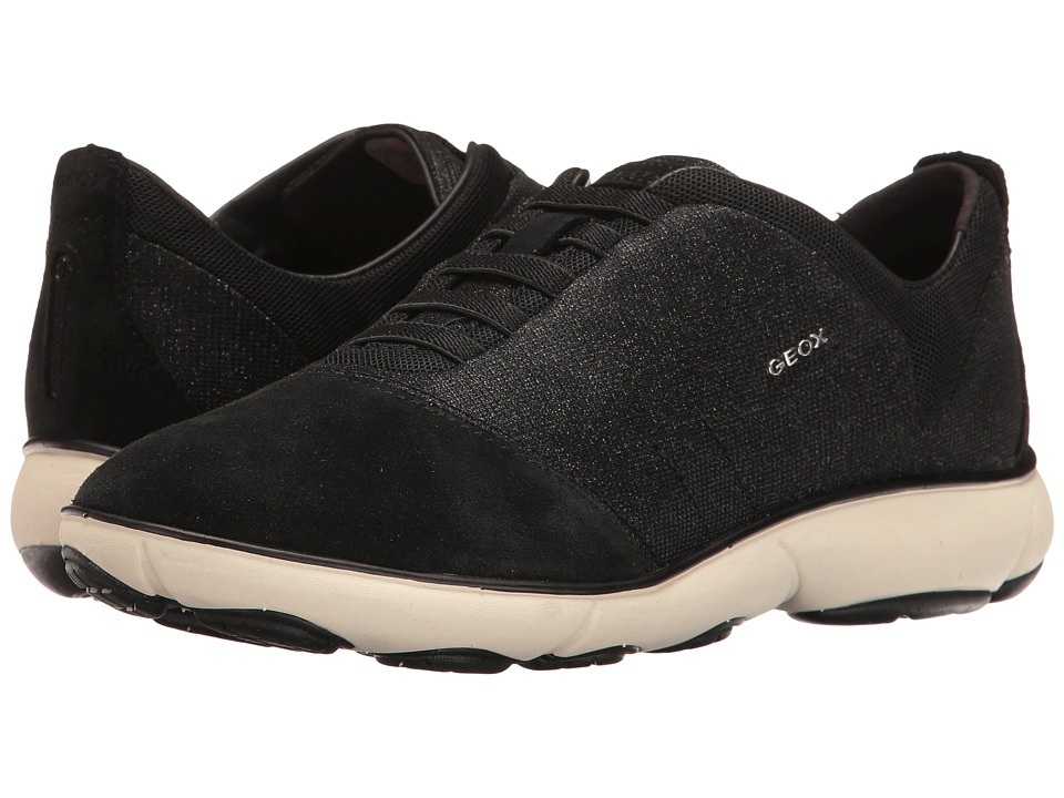 Geox - W NEBULA 11 (Black) Women's Lace up casual Shoes