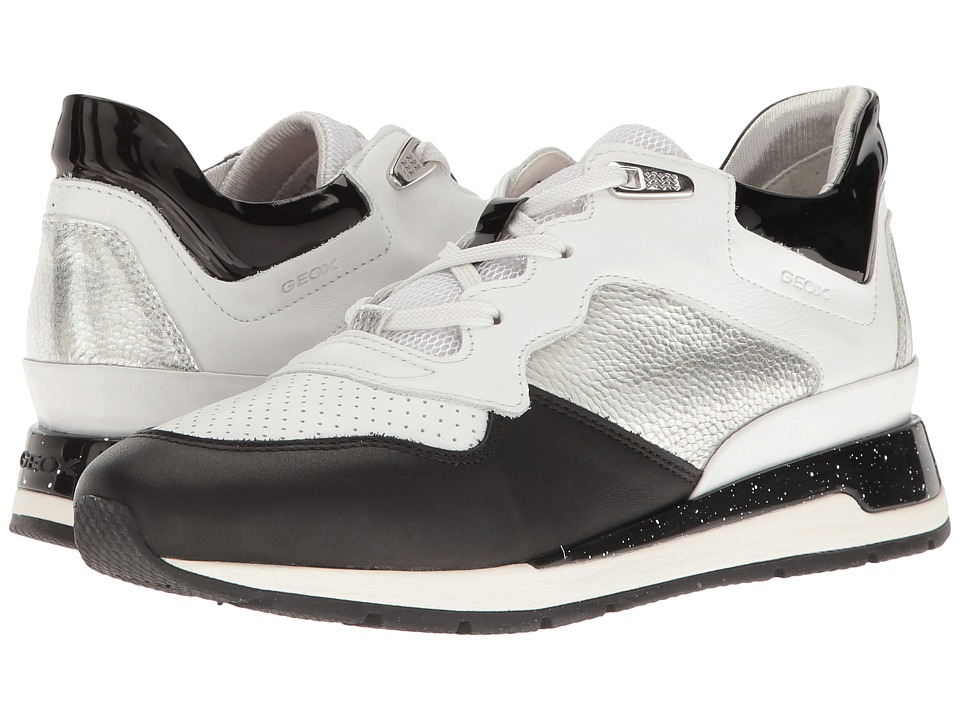 Geox - W SHAHIRA 35 (White/Silver) Women's Shoes