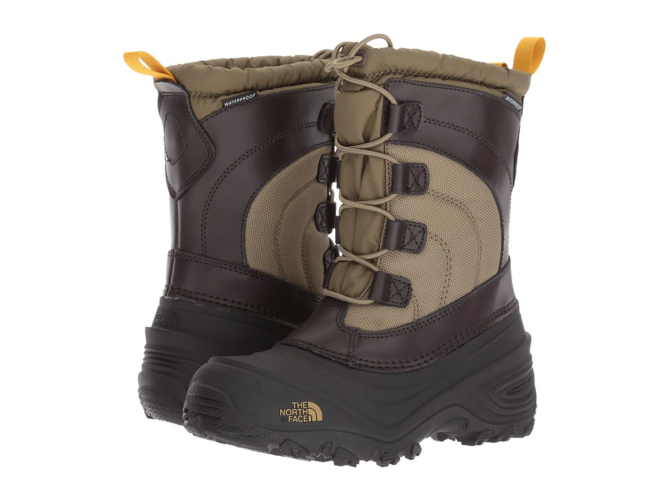 The North Face Kids Alpenglow IV (Toddler/Little Kid/Big Kid) (Burnt Olive Green/Arrowwood Yellow) Boys Shoes