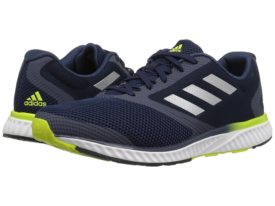 adidas - Mana Racer (Collegiate Navy/Silver/Semi Solar Yellow) Men's Running Shoes