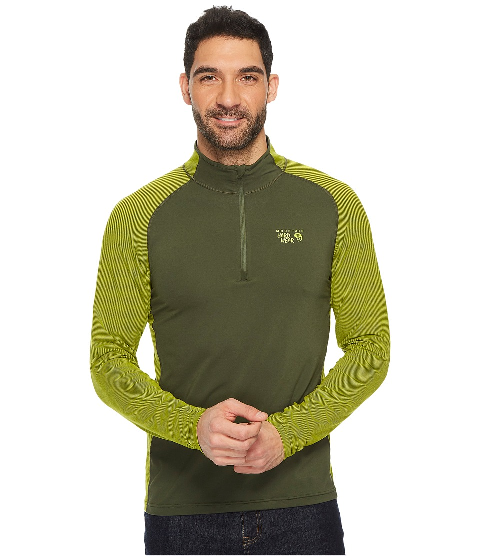 Mountain Hardwear Butterman 1/2 Zip Top (Surplus Green) Men
