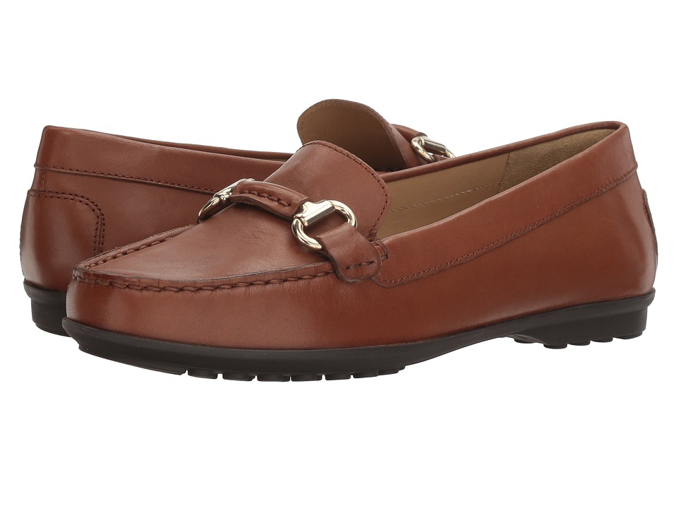 Geox - W ELIDIA 4 (Brown) Women's Flat Shoes