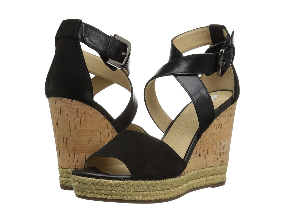 Geox - W JANIRA 9 (Black) Women's Wedge Shoes