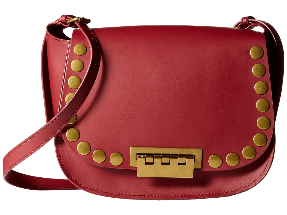 ZAC Zac Posen - Eartha Iconic Saddle with Flat Dome Stud (Cardinal) Cross Body Handbags