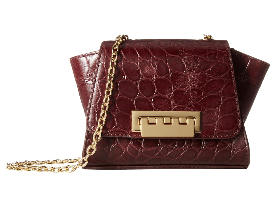 ZAC Zac Posen - Eartha Iconic Mini Crossbody - Embossed Croc (Merlot) Cross Body Handbags