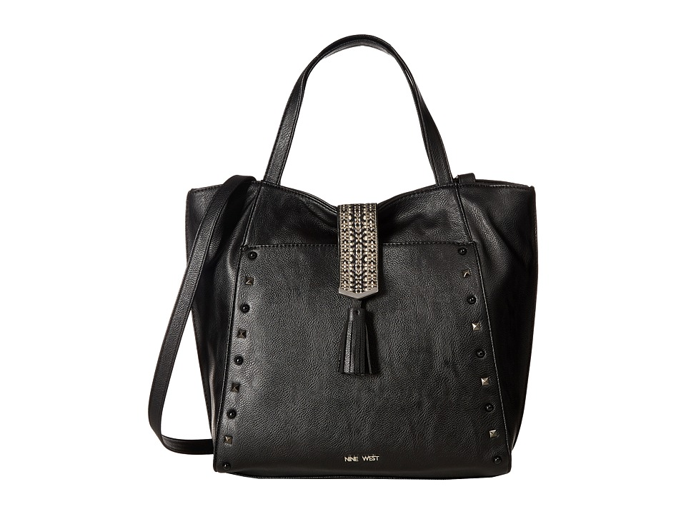 Nine West - Casual Tassel (Black/Black) Handbags