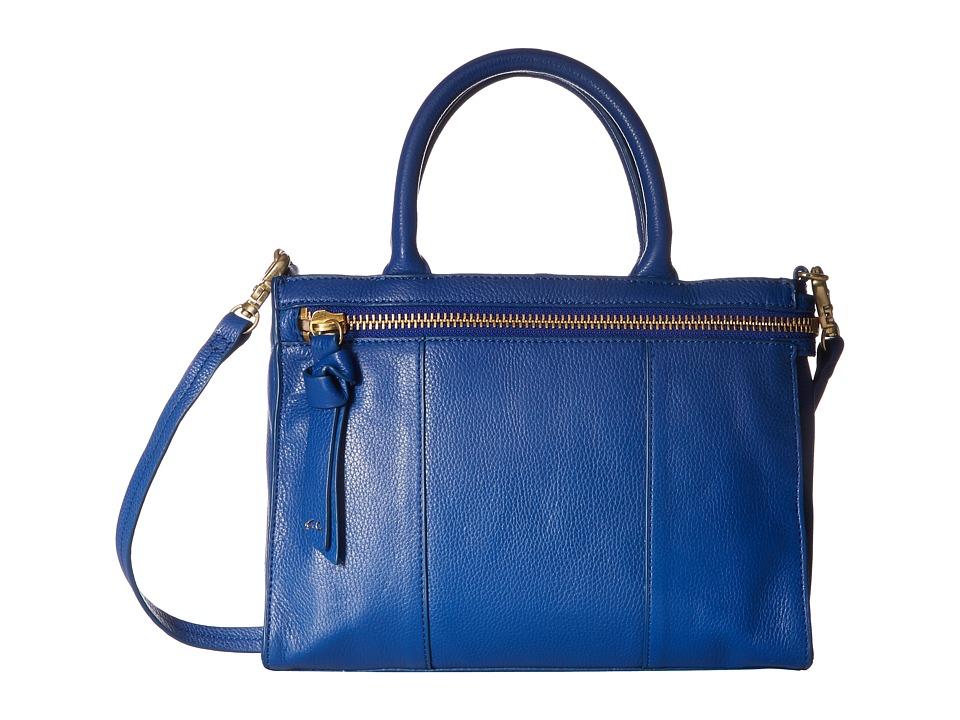 Foley & Corinna - Asscher Satchel (Sapphire) Satchel Handbags