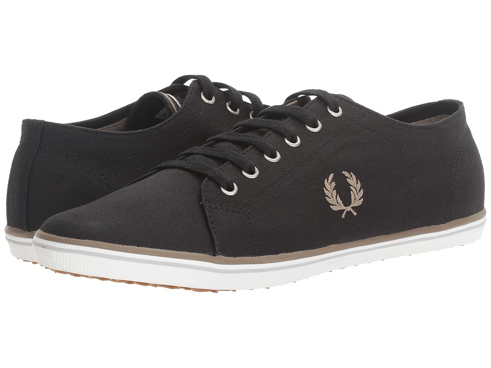 Fred Perry - Kingston Twill (Black/Driftwood/Dolphin) Men's Lace up casual Shoes