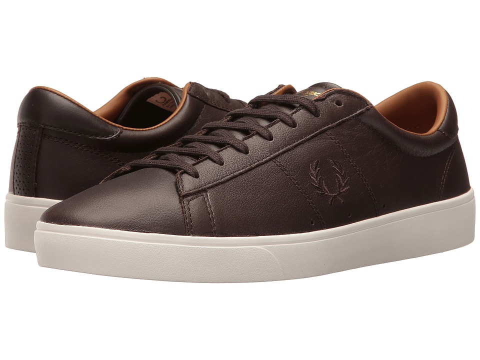 Fred Perry - Spencer Tumbled Leather (Dark Chocolate/Dark Chocolate) Men's Shoes