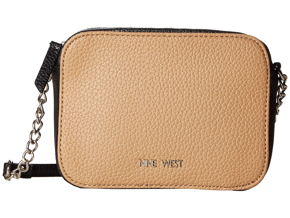 Nine West - Lucky Treasure Small Crossbody (Dark Camel/Black) Handbags