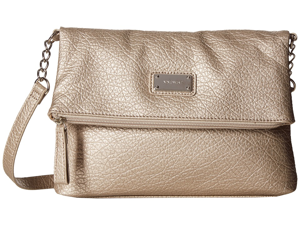 Nine West - Overbrook Crossbody (Shimmer Silver) Cross Body Handbags