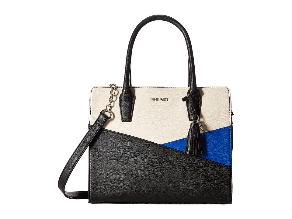 Nine West - You and Me (Black/Milk/Electric Blue) Handbags