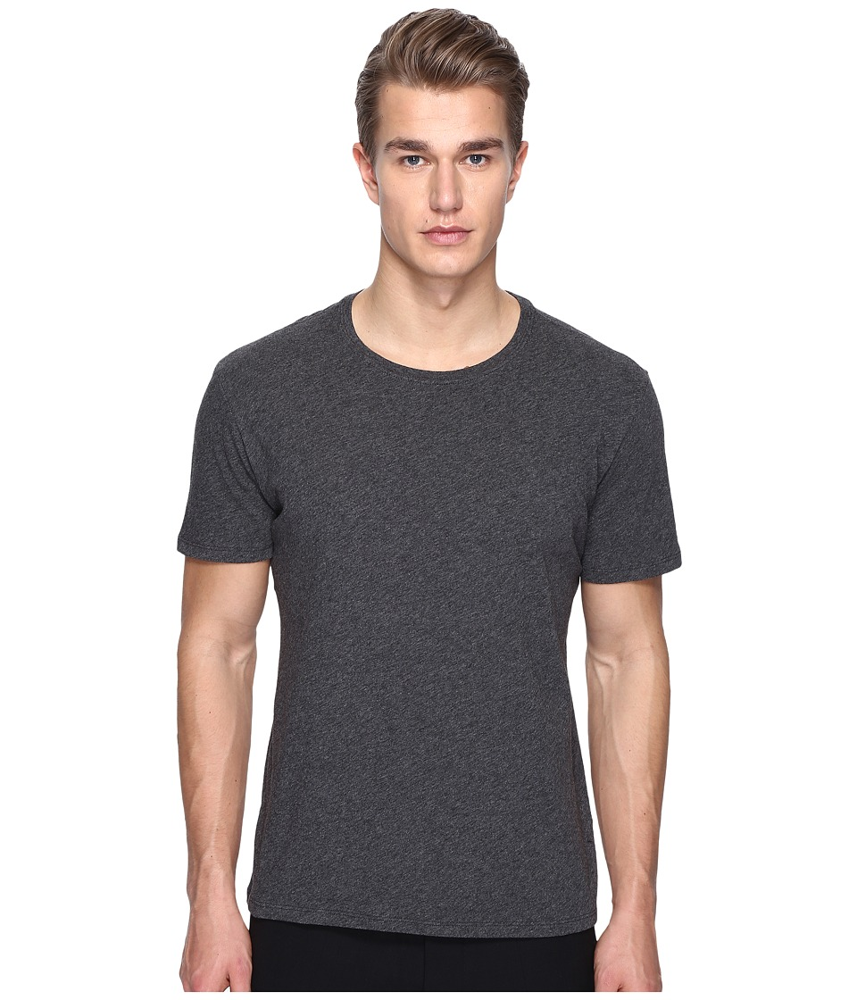 ATM Anthony Thomas Melillo - Classic Jersey Crew Neck Tee (Charcoal Heather) Men's T Shirt