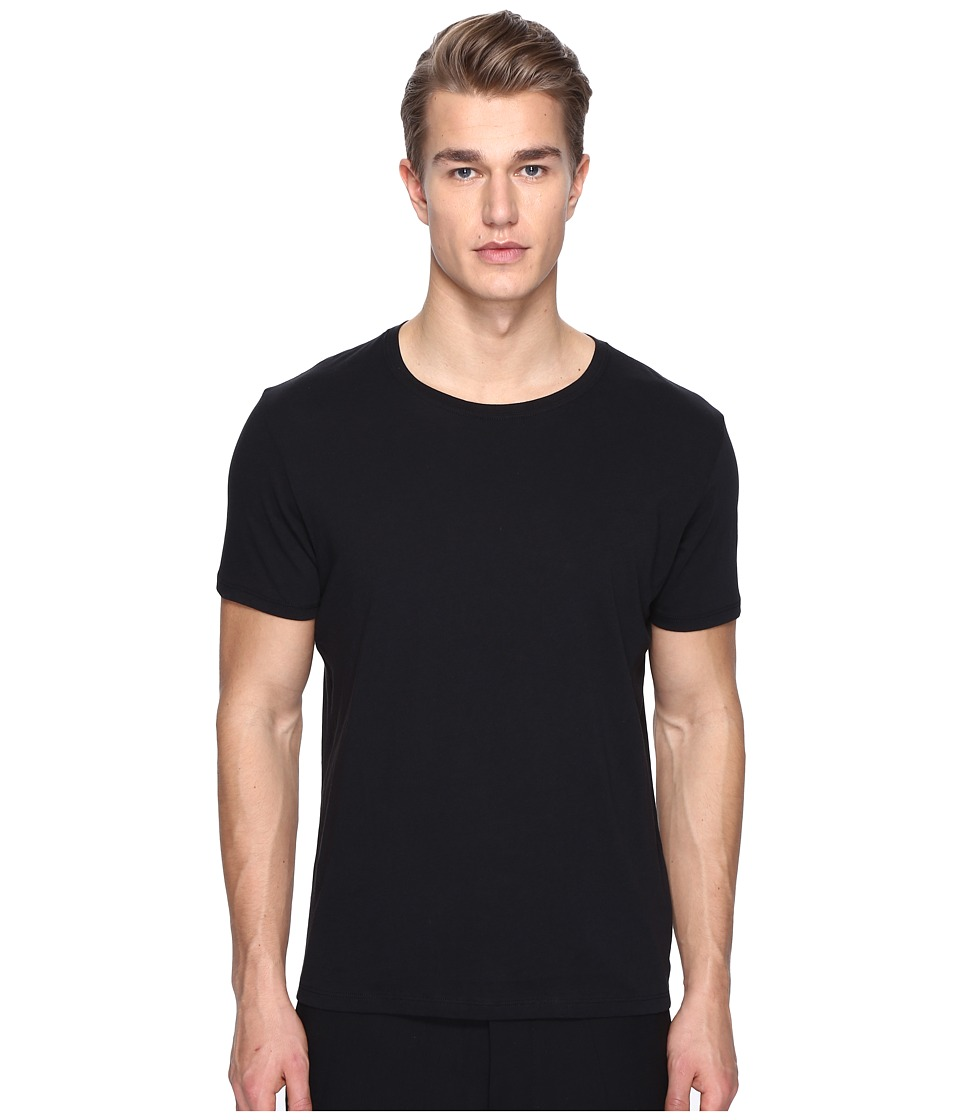 ATM Anthony Thomas Melillo - Classic Jersey Crew Neck Tee (Black) Men's T Shirt