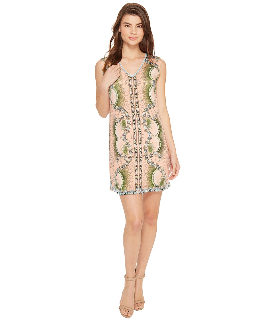 Nicole Miller La Plage By Nicole Miller Tropical Peacock Beaded Cover-Up Dress (Multi) Women