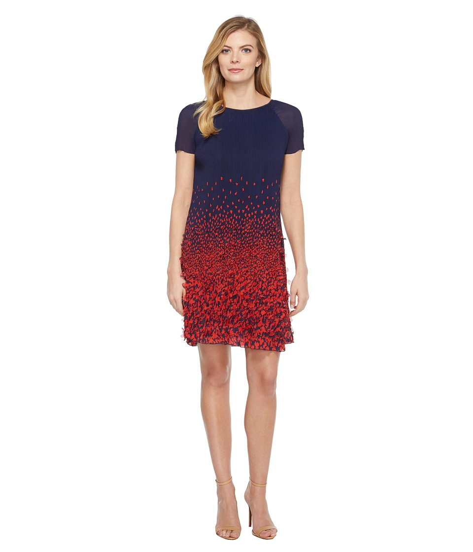 Eva by Eva Franco - Butterfly Dress (Navy/Red) Women's Dress
