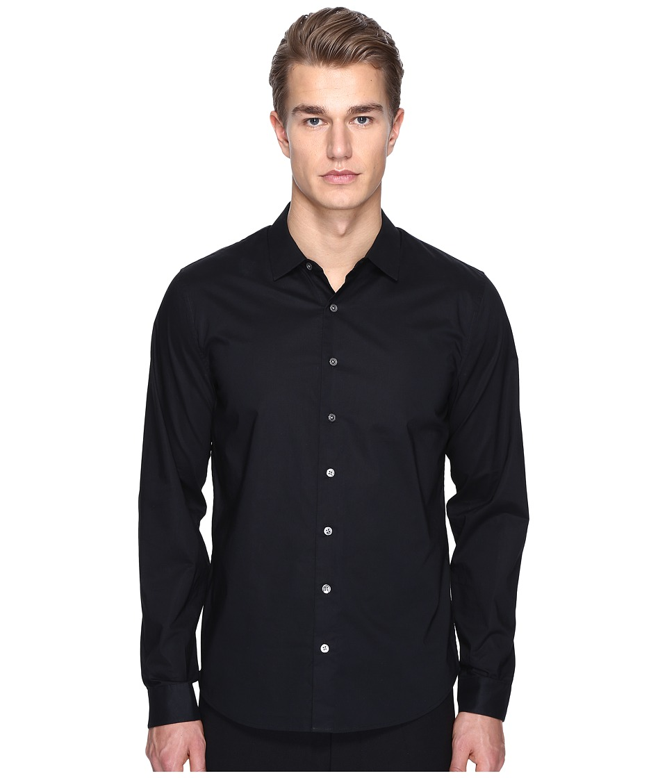 Image of ATM Anthony Thomas Melillo - Classic Dress Shirt (Black) Men's Long Sleeve Button Up