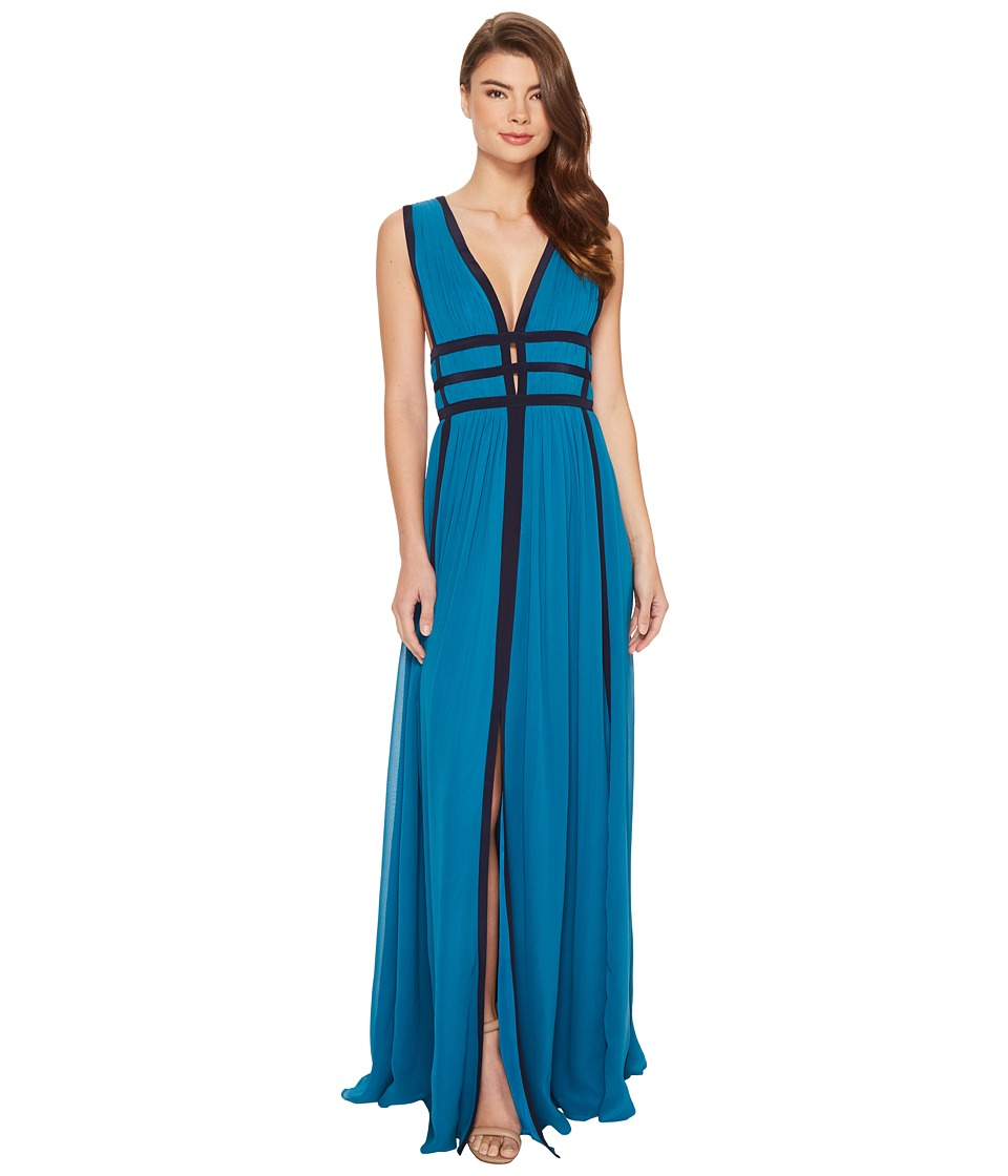 Nicole Miller Gladiator Gown (Mosaic Teal/Navy) Women