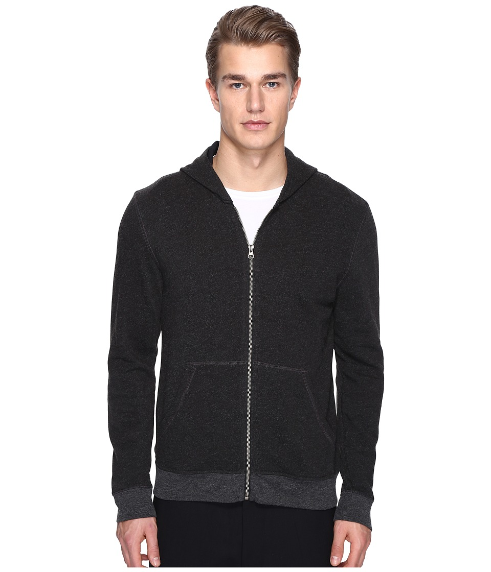 ATM Anthony Thomas Melillo - French Terry Zip Hoodie (Charcoal Heather) Men's Sweatshirt