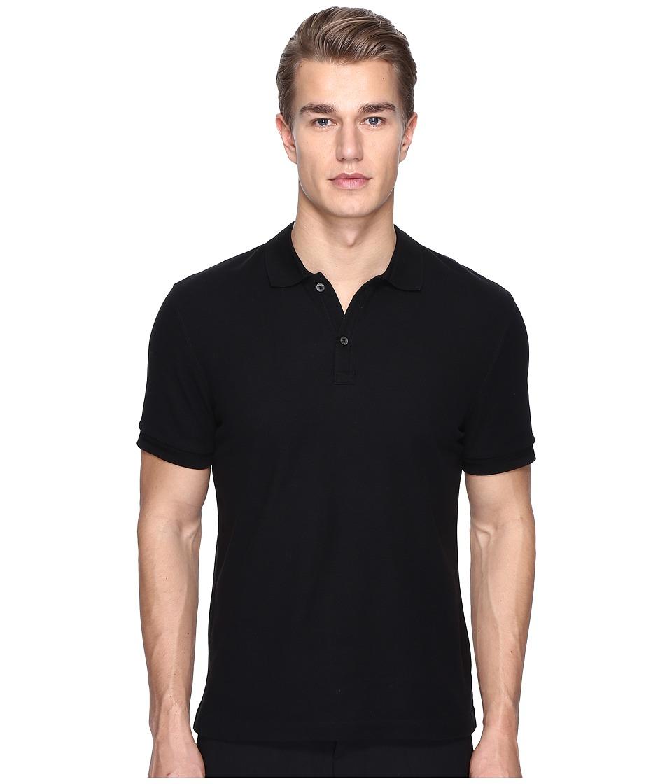 ATM Anthony Thomas Melillo - Classic Pique Polo (Black) Men's Short Sleeve Pullover