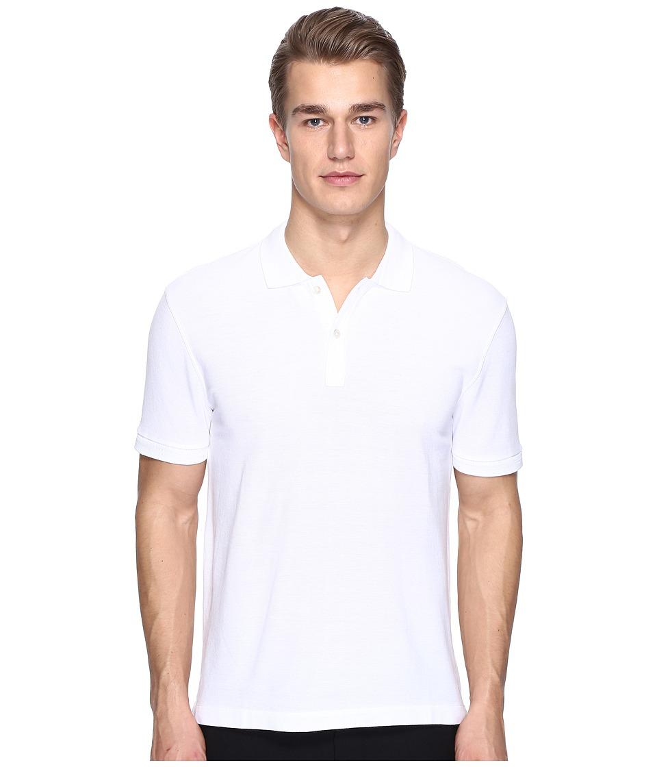 ATM Anthony Thomas Melillo - Classic Pique Polo (White) Men's Short Sleeve Pullover