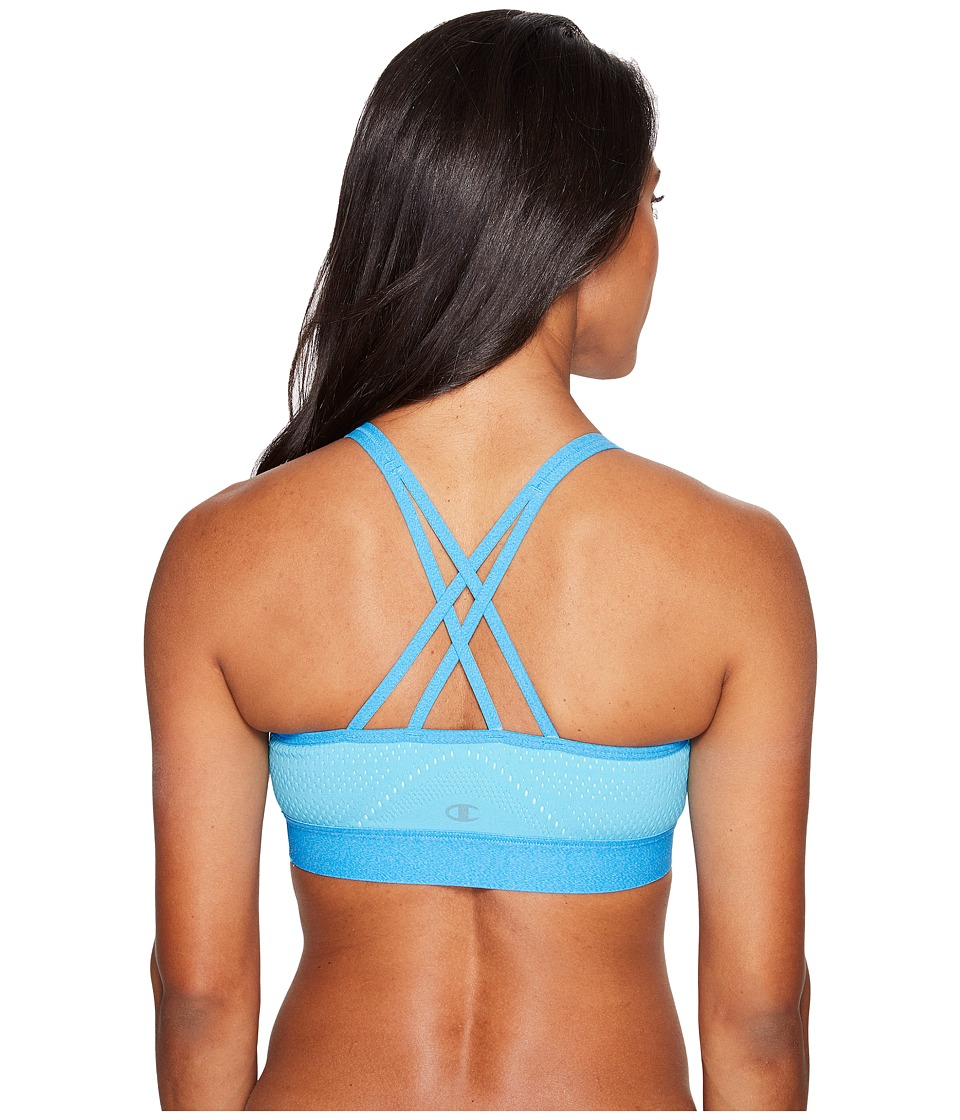 Champion - The Infinity Mesh Sports Bra (Turquoise Waters/Blue Mist/Quarry Blue Heather) Women's Bra