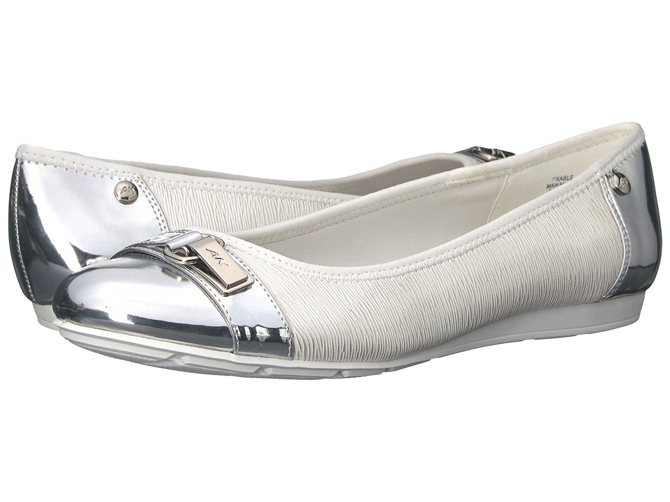 Anne Klein Able (White/Silver Multi Synthetic) Women