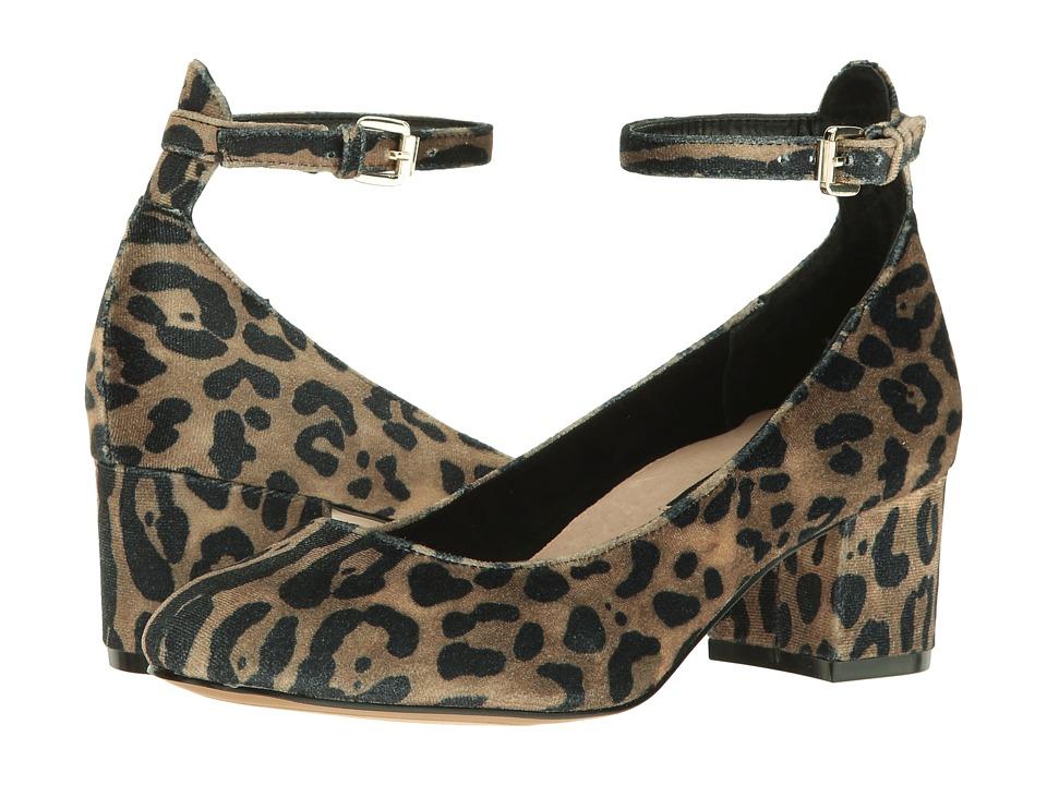 Steven Vassie (Leopard Velvet) High Heels