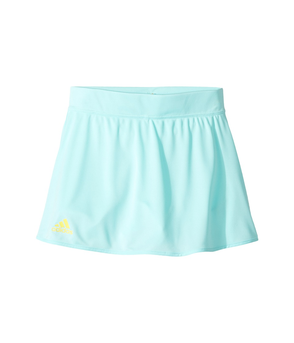 adidas Kids - Club Skirt (Little Kids/Big Kids) (Energy Aqua/Bright Yellow) Girl's Skort