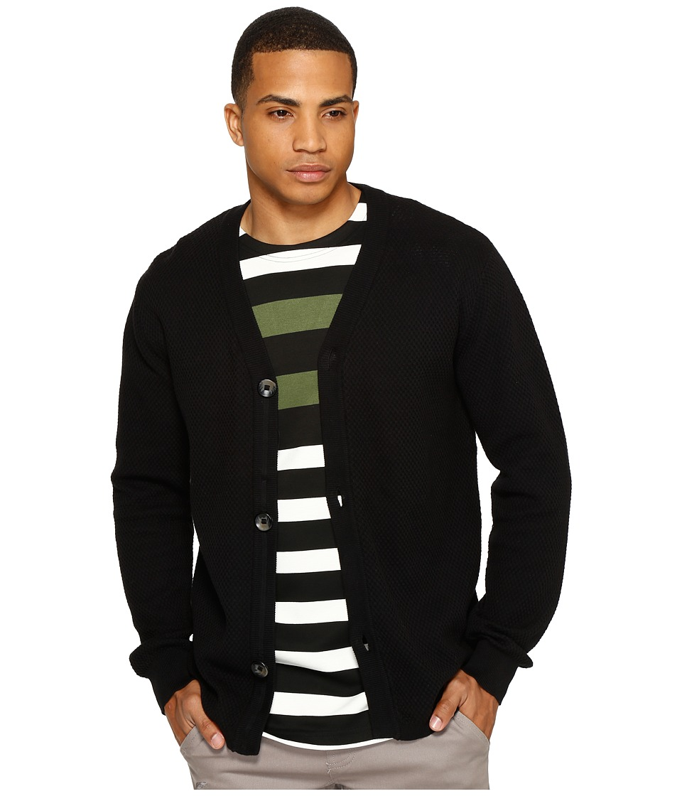 Publish Aydyn Full Fashion Knit Sweater (Black) Men