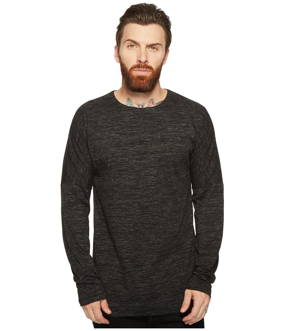 Publish - Rellen - Drop Shoulder Long Sleeve (Black) Men's Clothing