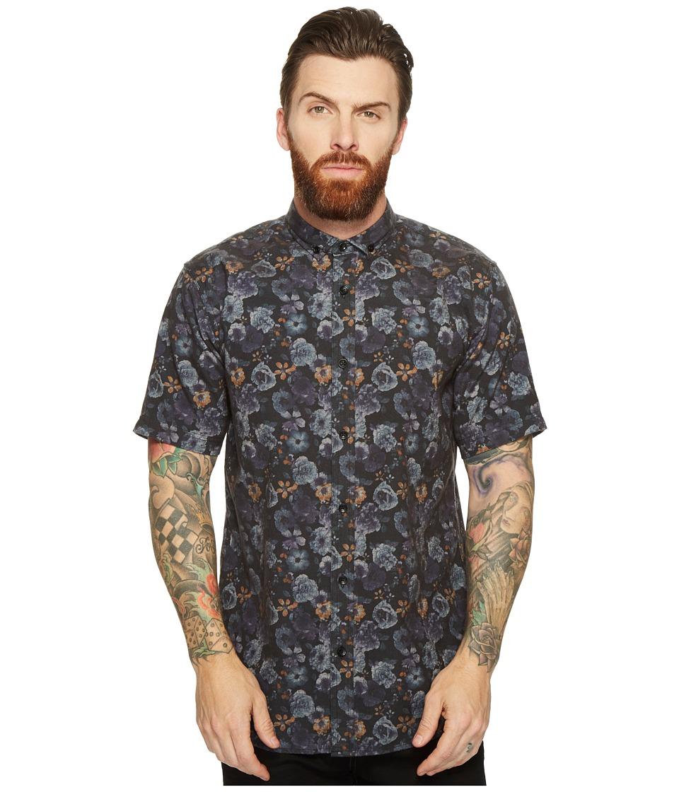 Publish - Jovani - Floral Button Down (Black) Men's Clothing