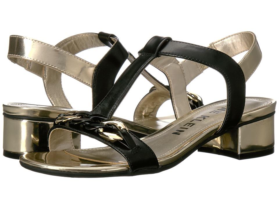 Anne Klein - Entity (Black/Gold Leather) Women's Shoes
