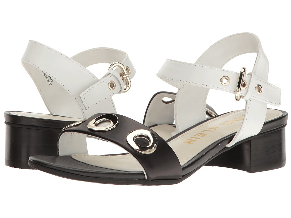 Anne Klein Ellamae (White/Black Leather) Women