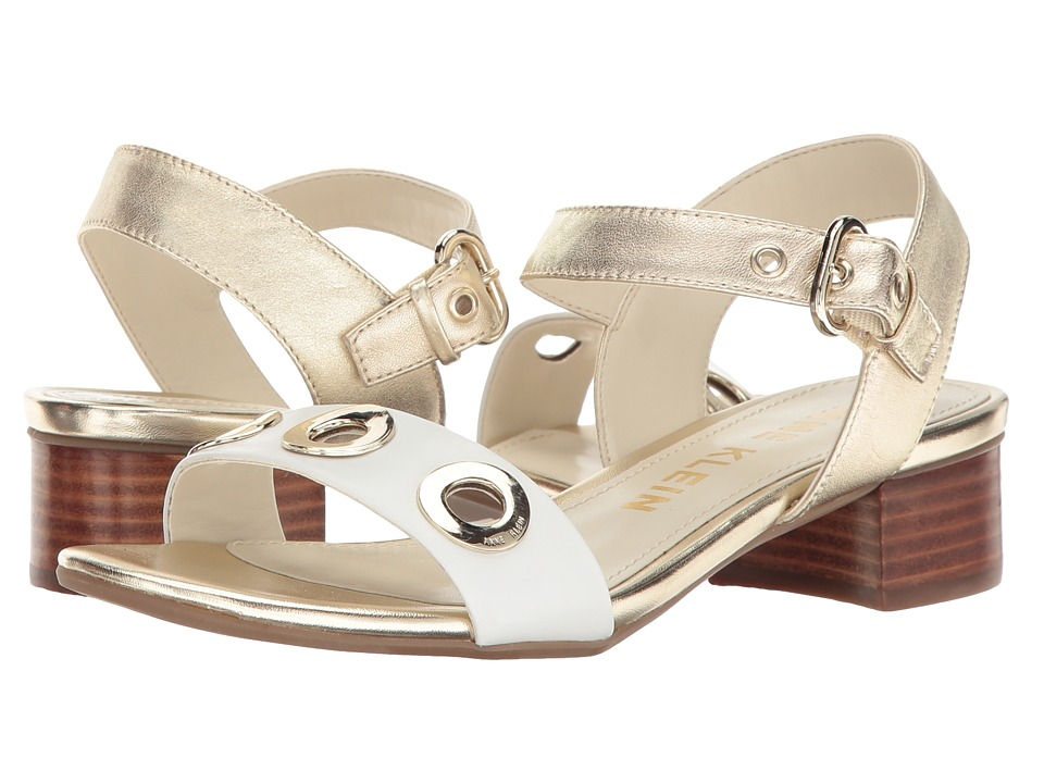 Anne Klein - Ellamae (Light Gold/White Leather) Women's Shoes