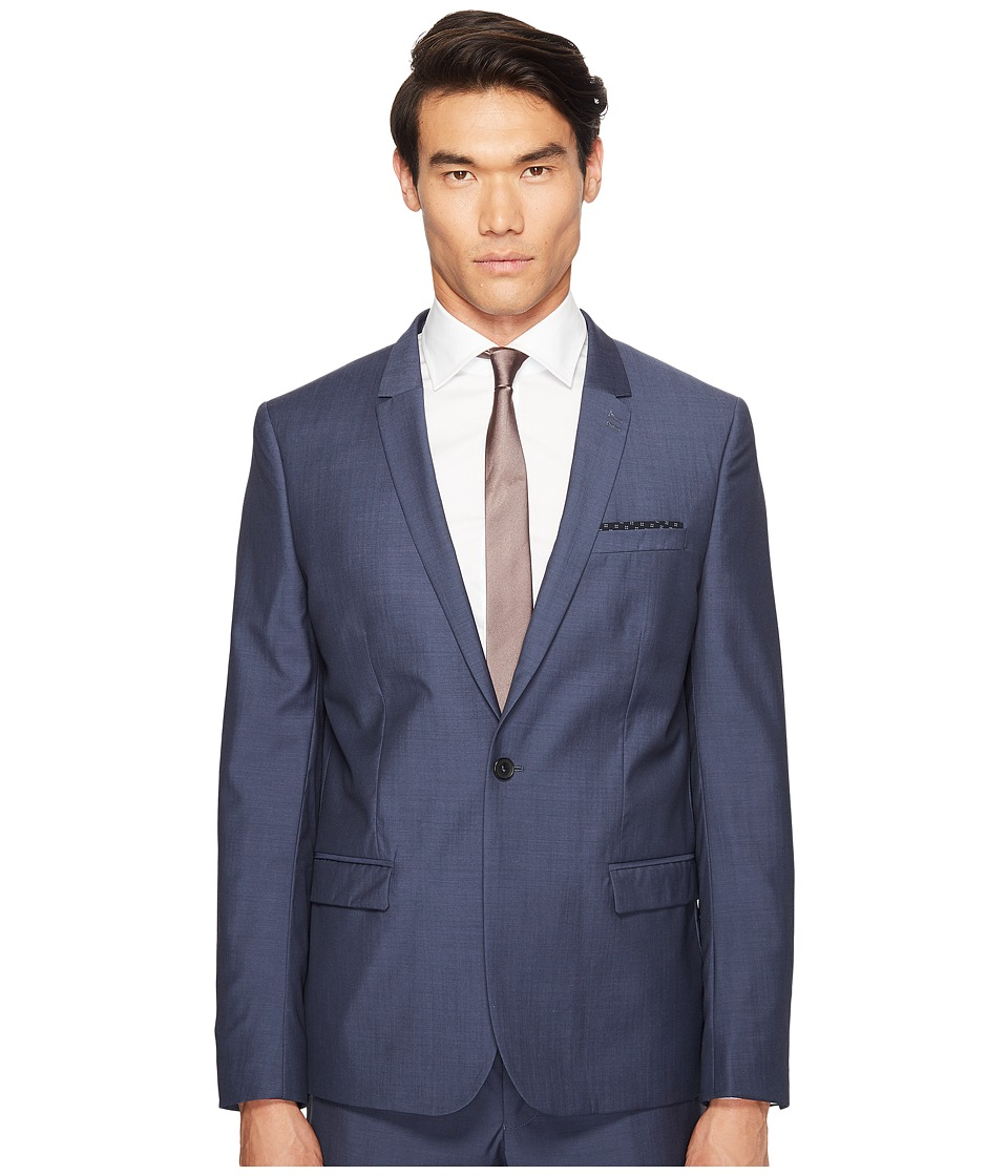 The Kooples - Blue Suit Jacket End-On-End (Blue) Men's Jacket