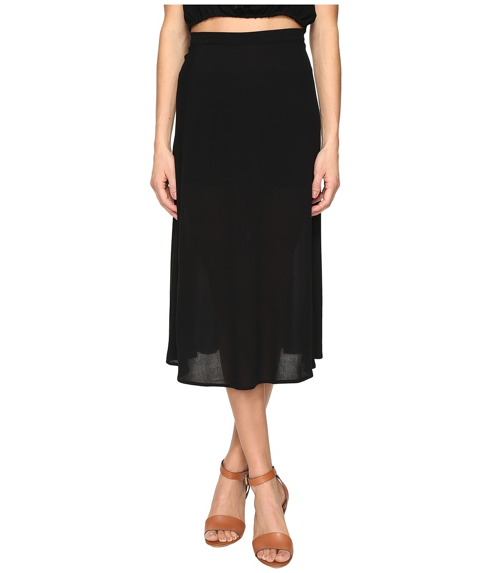 Clayton - Crepe Connie Skirt (Black) Women's Skirt