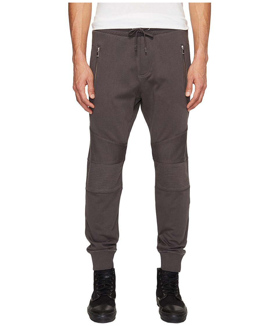 The Kooples - Jogging Trousers with Kneepads and Front Zip Pockets (Khaki Grey) Men's Casual Pants