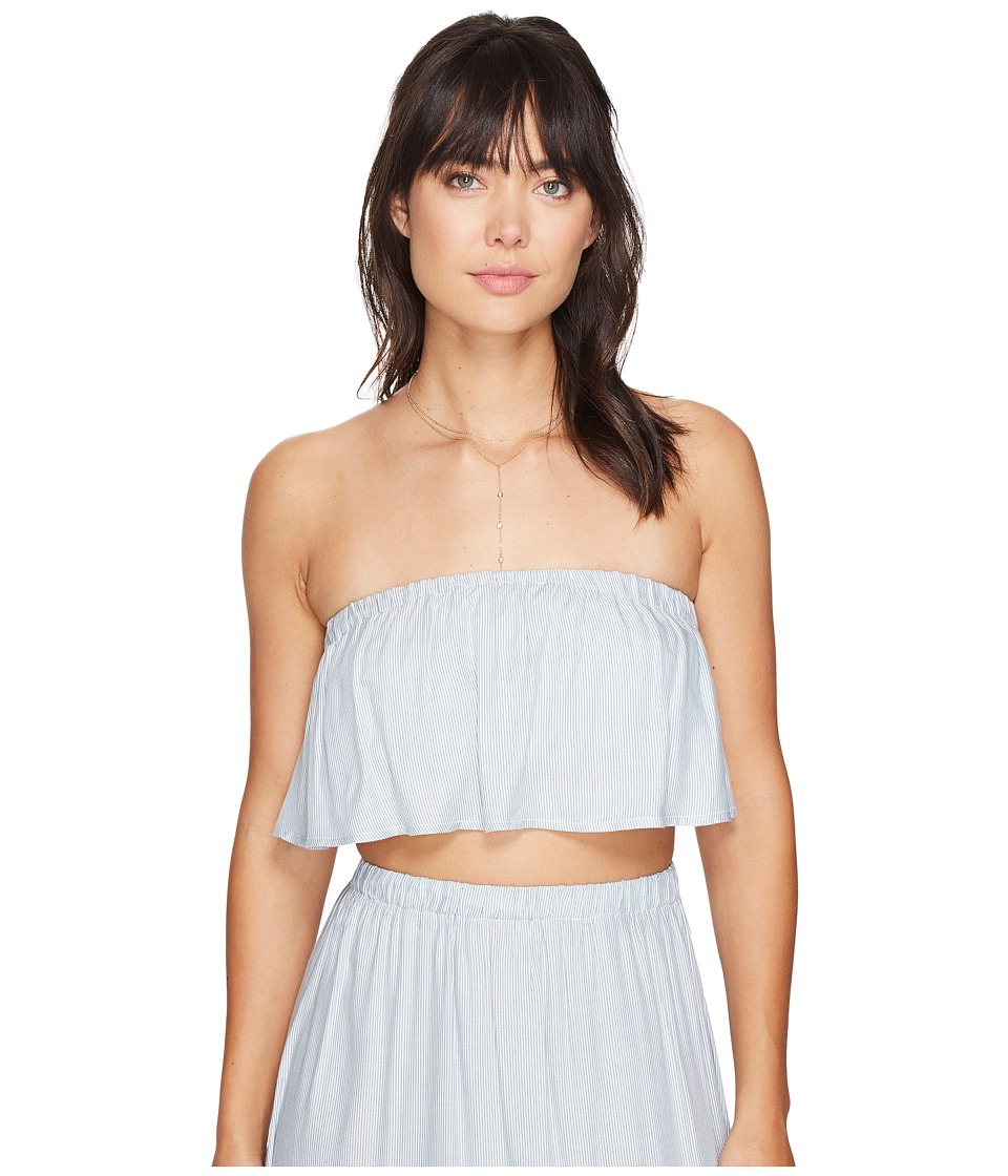Clayton - Lane Top (Stripe Twill) Women's Clothing