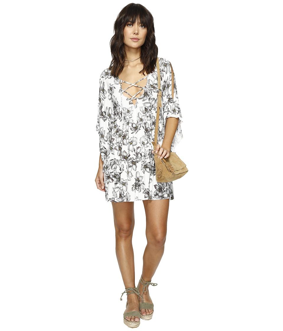 Clayton - Myla Dress (Light Blue Floral Sketch) Women's Dress