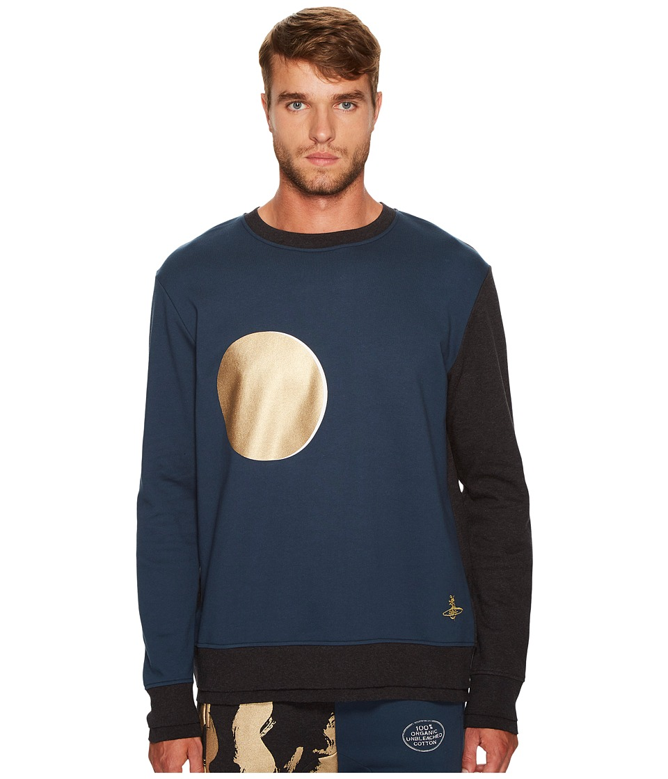 Vivienne Westwood - Sun and Moon Sweatshirt (Blue/Black) Men's Sweatshirt
