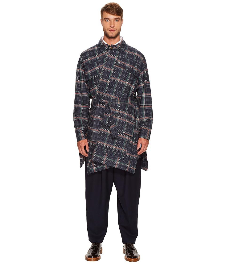Vivienne Westwood - Builder Coat Resin (Navy Plaid) Men's Coat