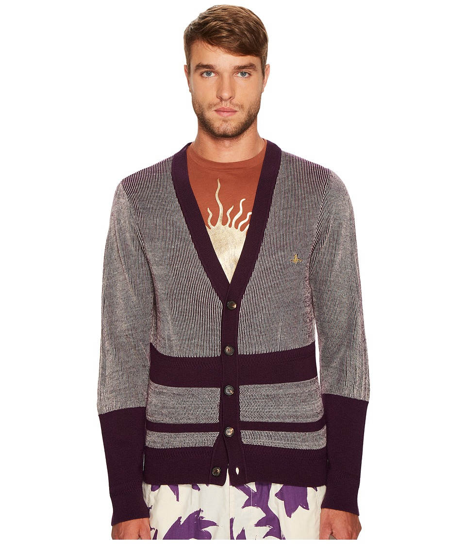 Vivienne Westwood - Raw Cardigan (Purple) Men's Sweater