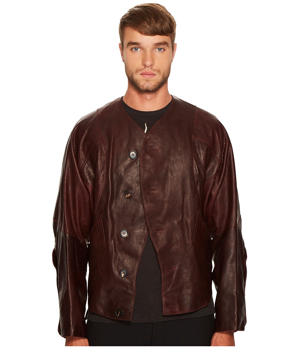 Vivienne Westwood - Pourpoint Scarred Leather Jacket (Burgundy) Men's Coat