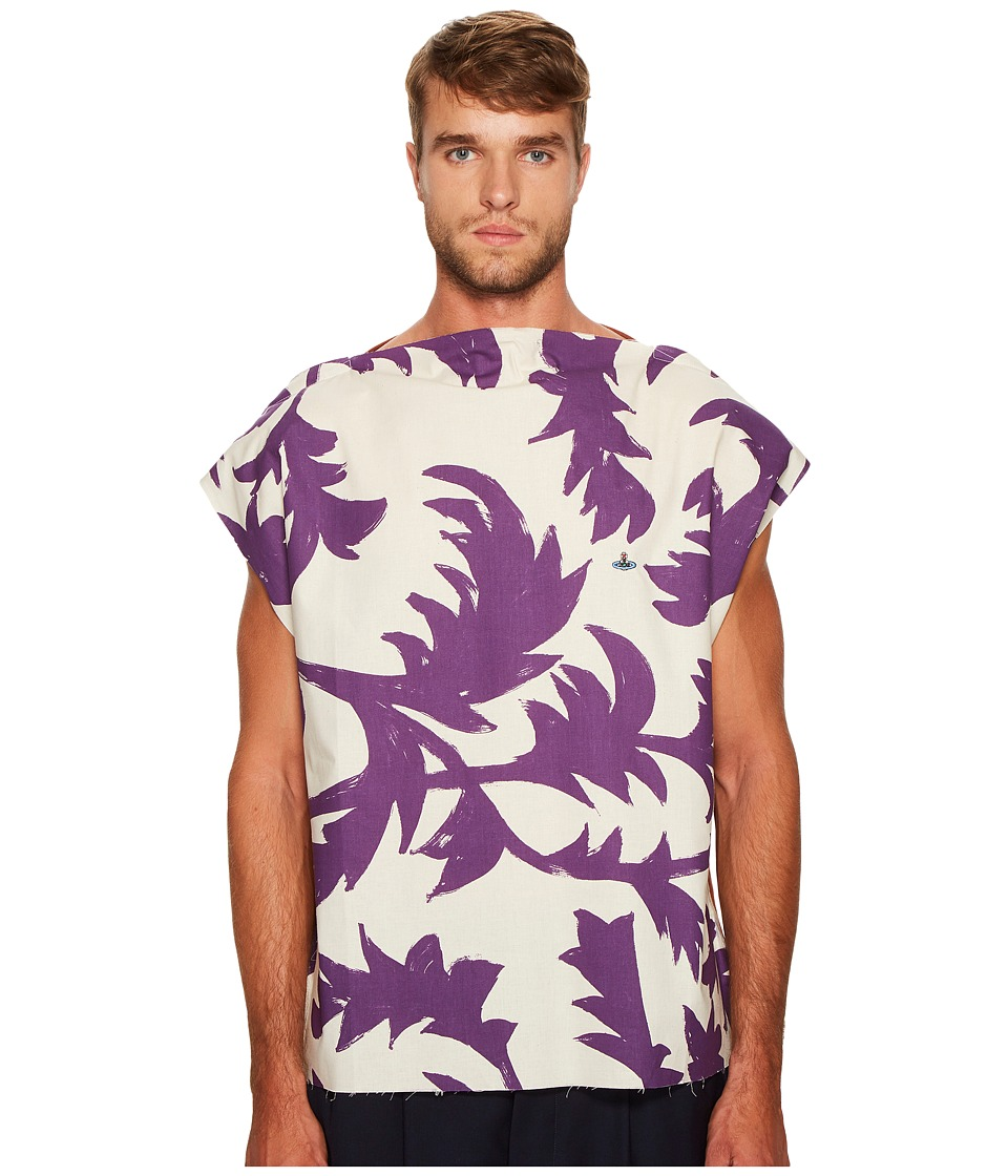 Vivienne Westwood - Purple Leaves Square T-Shirt (Purple Leaves) Men's T Shirt