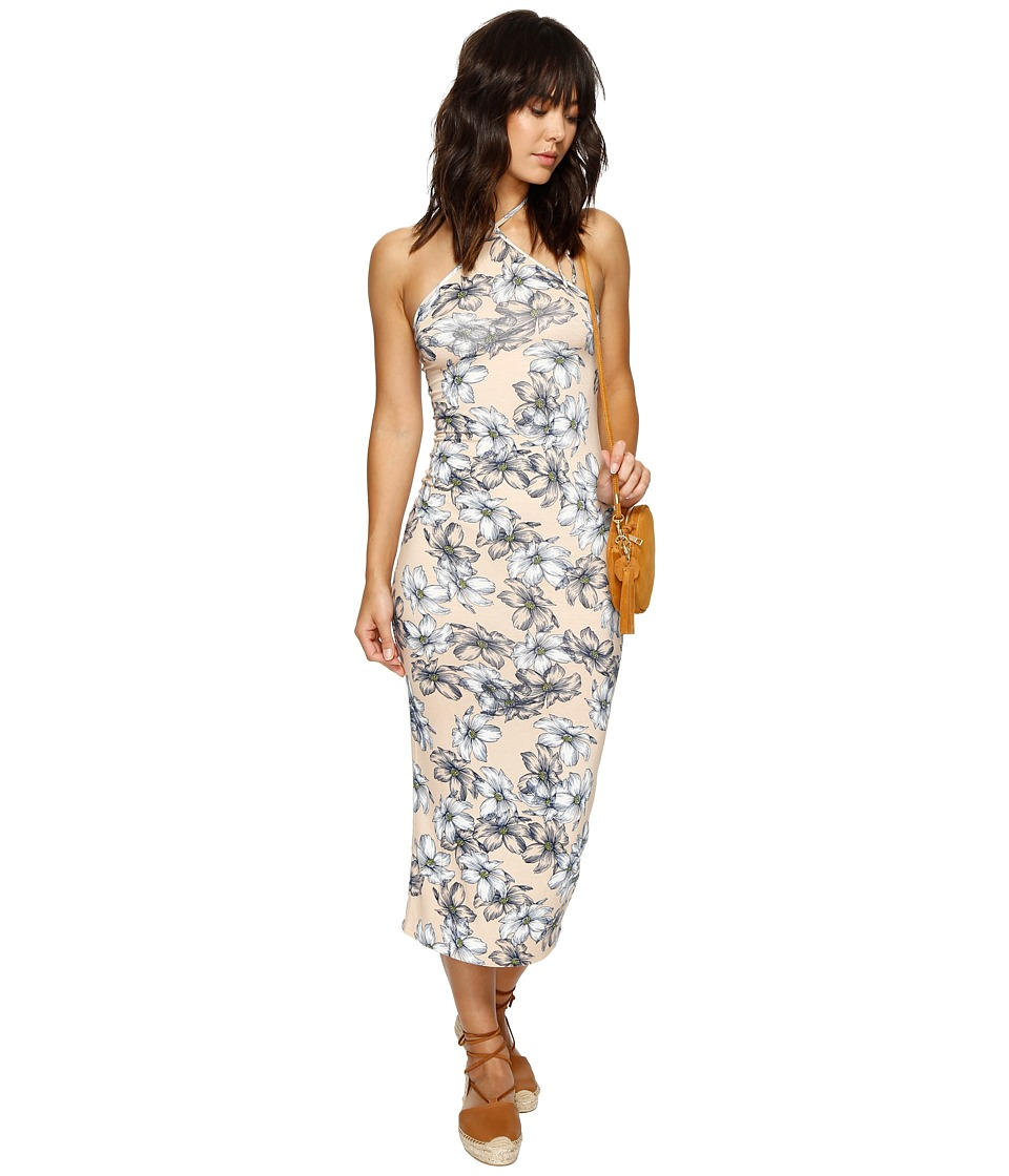 Clayton - Maliya Midi Dress (Bare Floral Sketch) Women's Dress